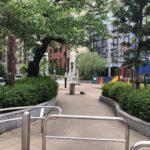 ラジオ体操発祥の地、佐久間公園